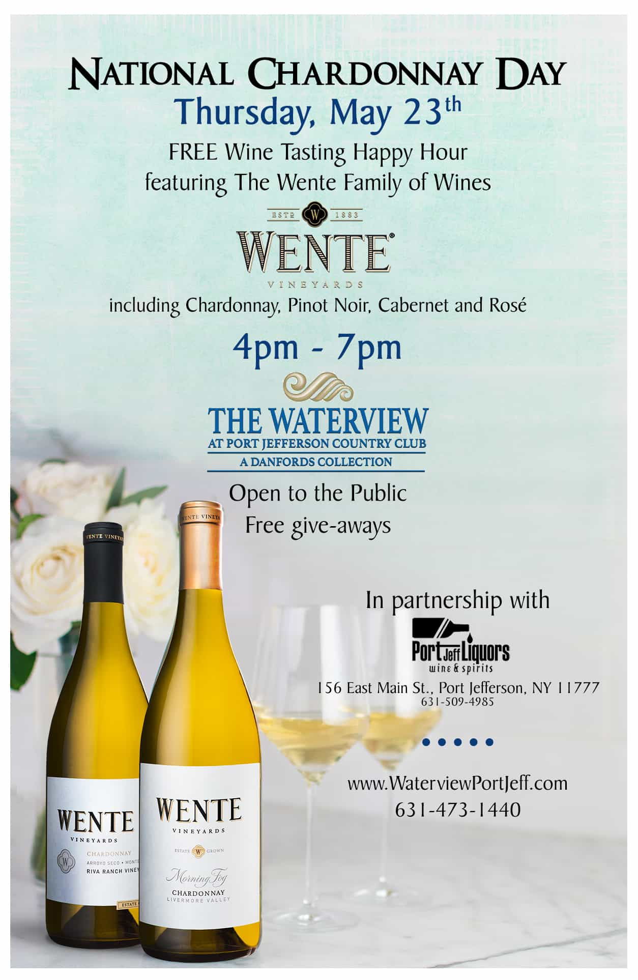 Waterview_Chardonnay Day sign | The Waterview At Port